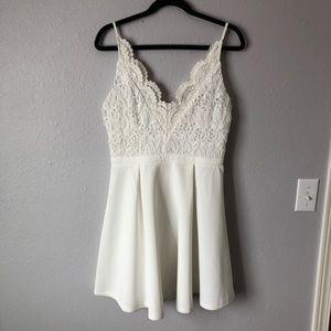 Annabella white lace dress